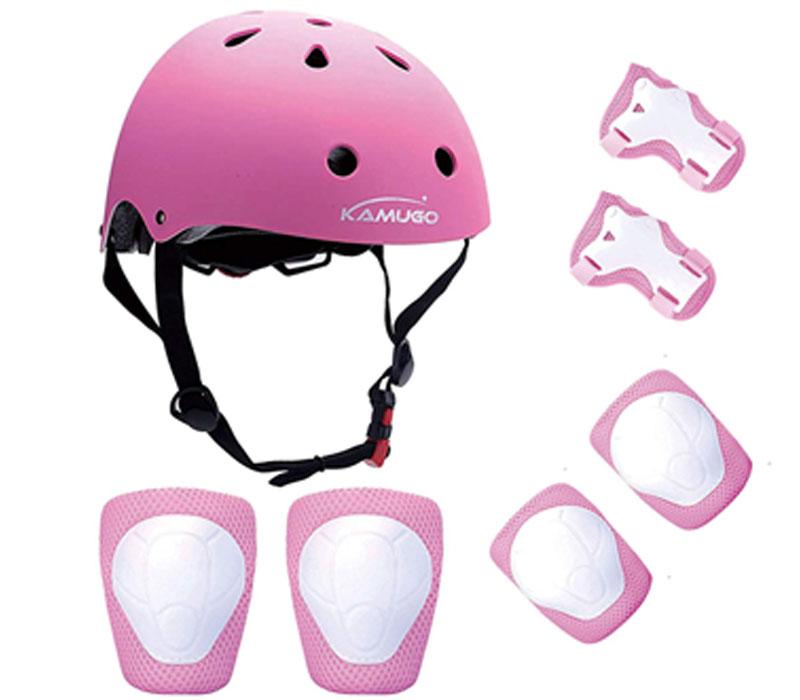 Kiwivalley Adjustable Helmet Kids Knee Pads,7Pcs Bike Skateboard Helmet Knee Elb